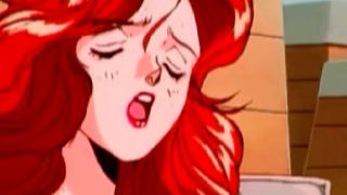 Redhaired Lesbo Vixen porn game