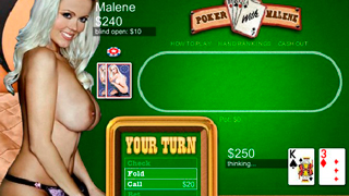 Hold'em Poker With Malene porn game
