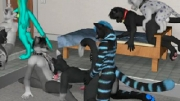 This is good 3D sex animations for all furry fans. Several horny furries have sex in the biggest fur...