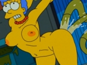 Marge's Crossbreeding Program - Marge getting fucked by the aliens. The Simpsons adult parody.