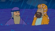 God commands Noah to build an Ark after deciding to end all life on earth. Have fun!
